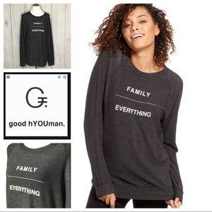 Good HYOUman Family Over Everything sweatshirt